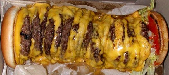 how much does a 100x100 innout cheeseburger cost